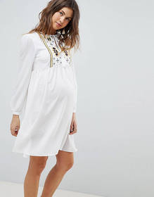 Glamorous Bloom Smock Dress With Tassle Ties And E