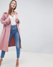 ASOS DESIGN Double Breasted Soft Formal Coat