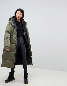 Cheap Monday long line padded coat with detachable
