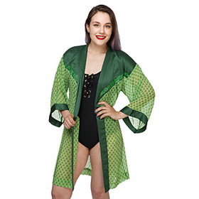 Poison Ivy Chiffon Cover-Up Robe