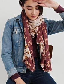 Floral Duofold Scarf