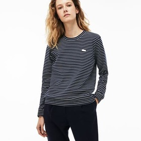 Women's Crew Neck Stretch Cotton Interlock Sweatsh