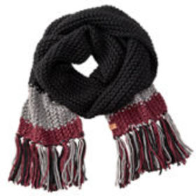 Cable-Knit Color Block Scarf