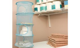 4 Shelf Toy Cubby Mesh Organizer For Children Bedr on sale at Groupon.com