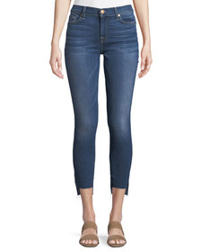 7 For All Mankind Cropped Super Skinny Ankle Jeans