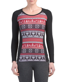 HOT CHILLYS Mtf Sub Print Scoop Neck Top