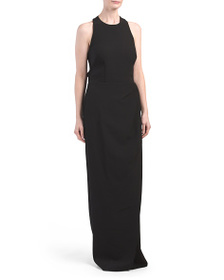 JS COLLECTIONS Sleeveless Gown With Open Back