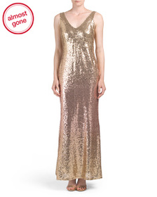 MARINA Ombre Sequin Gown