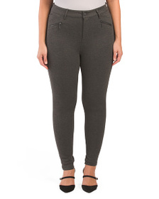 SEVEN7 Plus High Rise Ponte Leggings With Zippers