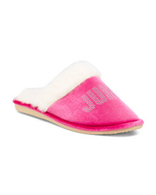 JUICY BY JUICY COUTURE Brand Logo Slippers
