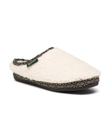 WOOLRICH Whitecap Mules With Faux Fur Lining