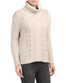 CLICHE Chunky Marled Turtleneck Sweater