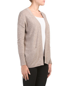C&C CALIFORNIA Cardigan With Slit Pockets And Ribb