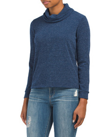 W5 CONCEPTS Made In Usa Cowl Neck Pullover Top