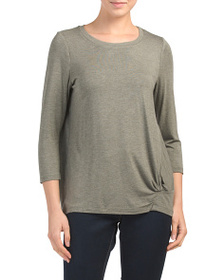 JANE AND DELANCY Gathered Knot Top