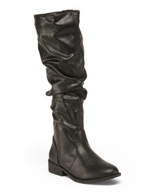 QUPID Ruched Knee High Boots