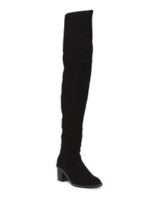 reveal designer Made In Italy Over The Knee Suede