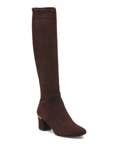 DELMAN Made In Spain Suede Stretch Boots