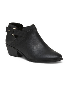 DR. SCHOLL'S Low Open Side Ankle Booties