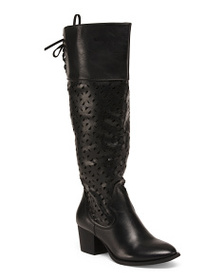 WANTED Western Inspired Knee High Boots