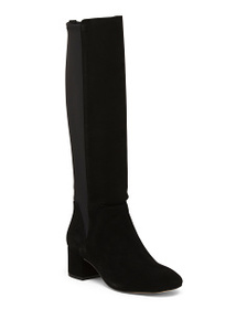 reveal designer Tall Shaft Suede Boots