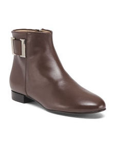 DELMAN Made In Spain Leather Ankle Booties