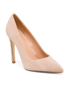 HALSTON HERITAGE Pointy Toe Suede Pumps