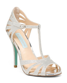 BETSEY JOHNSON T Strap Ankle Closure Heels