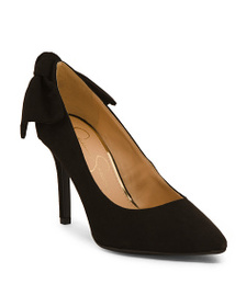 JESSICA SIMPSON Faux Suede Bow Detail Pointy Toe P