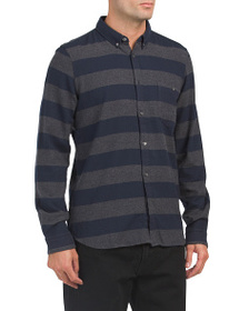 FRENCH CONNECTION Classic Flannel Striped Shirt