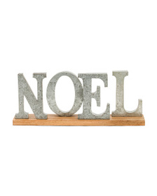 CHESTNUT LANE Made In India Noel On Wooden Base on sale at T J Maxx