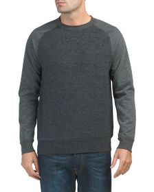 FRENCH CONNECTION Boiled Sweat Knit Hybrid Crew Sw