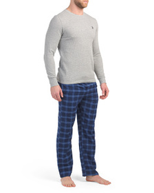 US POLO ASSOCIATION Flannel Pants With Thermal Top