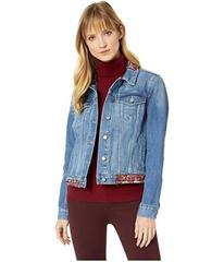 Vince Camuto Tapestry Patchwork Classic Denim Jack