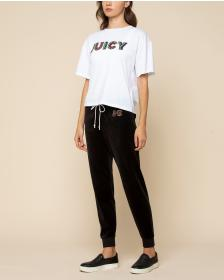Juicy Couture Luxe Stacked Juicy Velour Zuma Pant