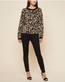 Juicy Couture Metallic Leopard Jacquard Pullover S