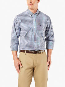 Big and Tall Comfort Flex Button-Up Shirt