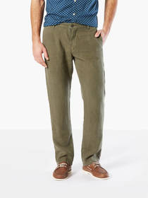 Premium Linen Pants, Slim Tapered