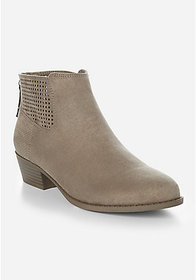 Perforated Ankle Bootie