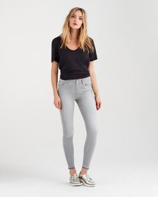 B(air) High Waist Skinny with Released Hem in Powd