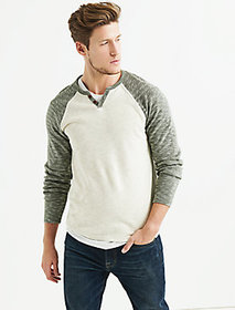 Colorblock Double Knit Notch