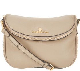 """As Is"" Vince Camuto Leather Crossbody Handbag - R"
