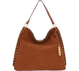 """As Is"" Vince Camuto Suede Hobo Bag- Bren - A36795"