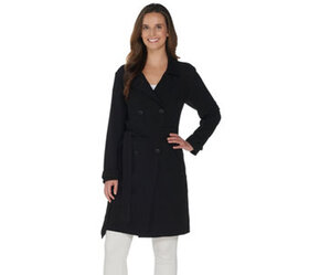 """As Is"" BROOKE SHIELDS Timeless Trench Coat - A342"