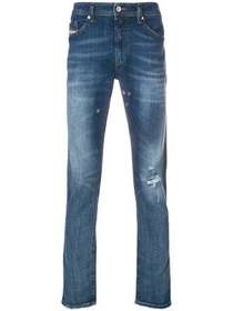 Diesel distressed fitted jeans