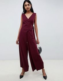 Emme Glamour Wrap Jumpsuit with Wide Leg