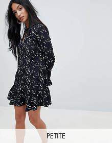 Glamorous Petite Swing Dress With Bell Sleeve In S