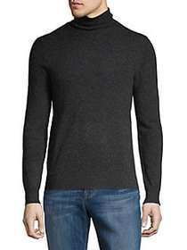 Black Brown 1826 Cashmere Turtleneck Sweater CHARC