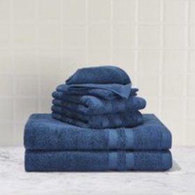 Mainstays Solid Performance Cotton Towel Set - 6 P