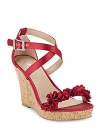 Charles by Charles David Lauryn Satin Wedge Sandal
